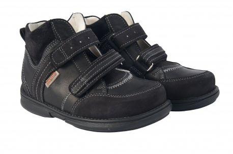 MEMO Polo Junior Black 3LY Trzewiki Diagnostyczno-profilaktyczne czarne