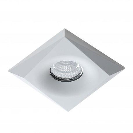 Oczko stropowe Lorenzo AZ1496 AZzardo kwadratowa oprawa w kolorze białym