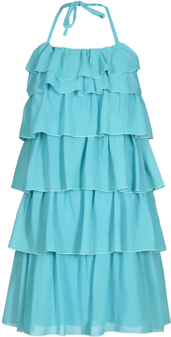 Sukienka FSU150 TURKUSOWY ŚREDNI