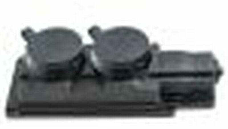 Rozgałęźnik do przedłużacza 2-gniazda z/u Schuko gumowe czarne IP44 D.3159/2-S