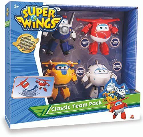 Super Wings EU730206 zestaw z 4 elementami Transforming 12 cm 2-Jett/Paul/Donnie/Astra