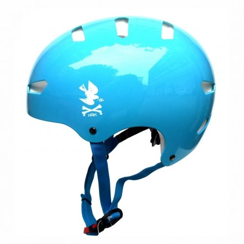 KRKpro kask NoPeace Blue/White BMX MTB Skate Rolki