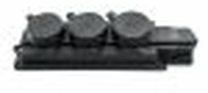 Rozgałęźnik do przedłużacza 3-gniazda z/u Schuko gumowe czarne IP44 D.3159/3-S
