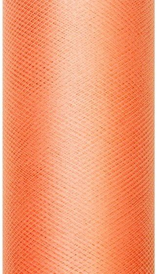 Tiul dekoracyjny pomarańczowy 30cm rolka 9m TIU30-005 - POMARAŃCZOWY 30CM