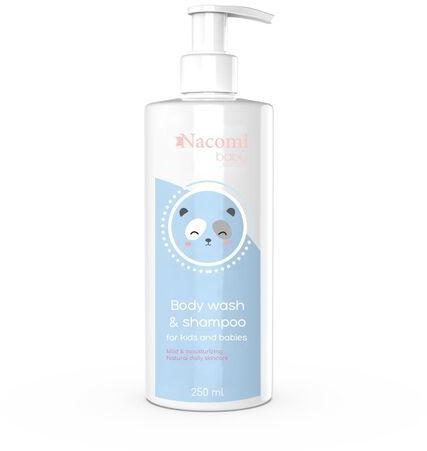 Emulsja do mycia dzieci i niemowląt Nacomi Baby - Zawiera łagodne substancje myjące - 250 ml