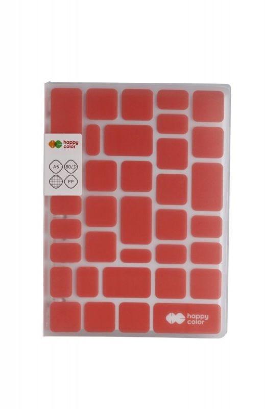 Kołobrulion A5 kratka 80k Happy Color TREND Czerwony HA 4761 1521-TC80