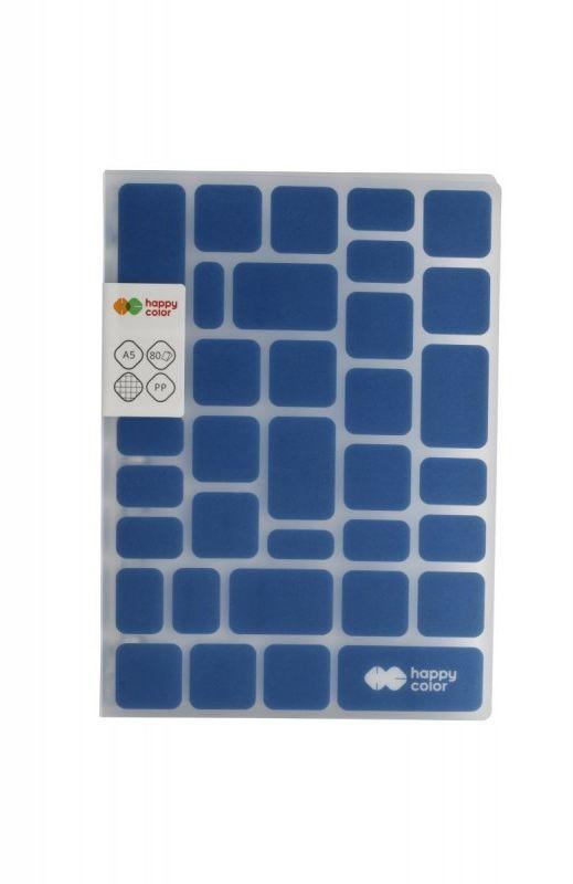 Kołobrulion A5 kratka 80k Happy Color TREND Niebieski HA 4761 1521-TB80