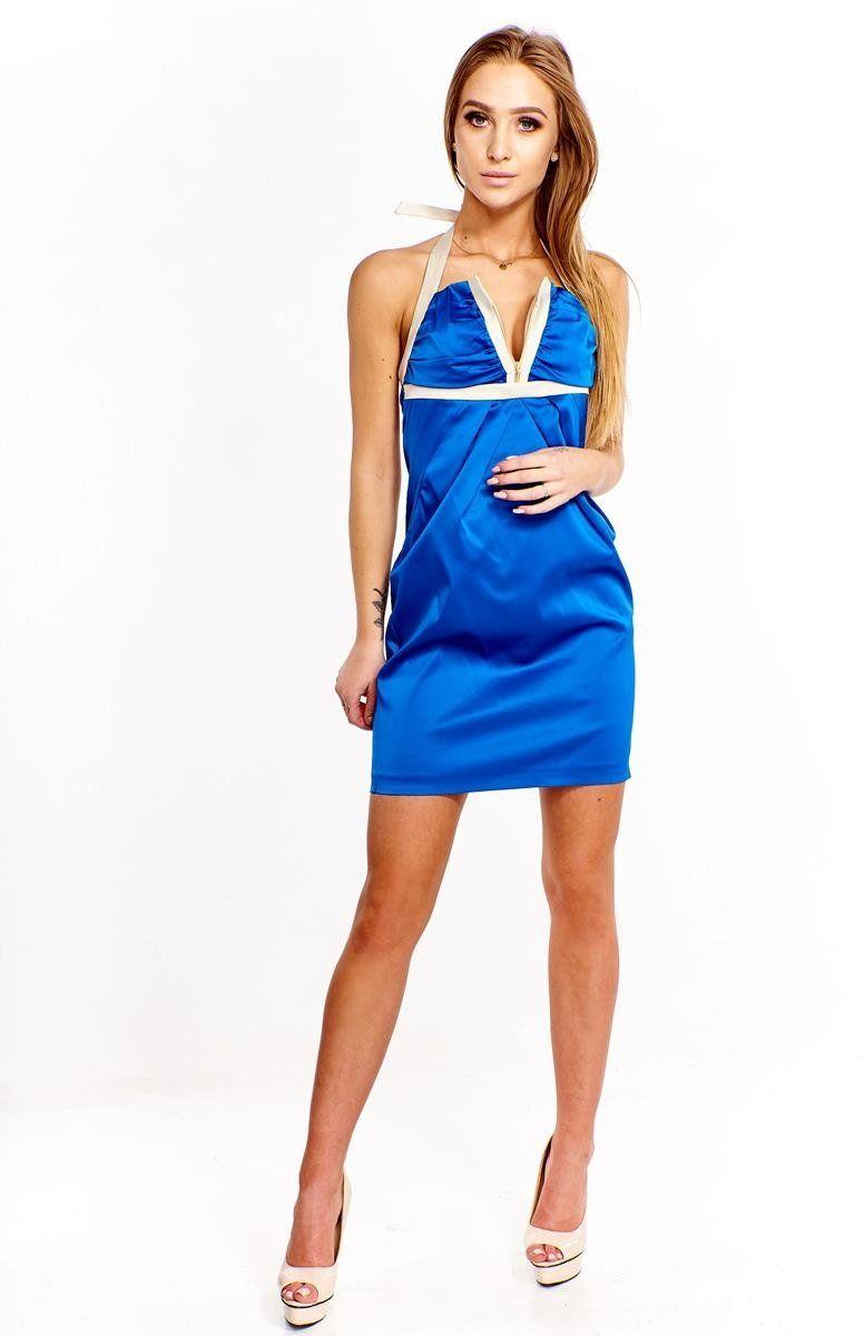 Sukienka FSU218 CHABROWY BEŻOWY