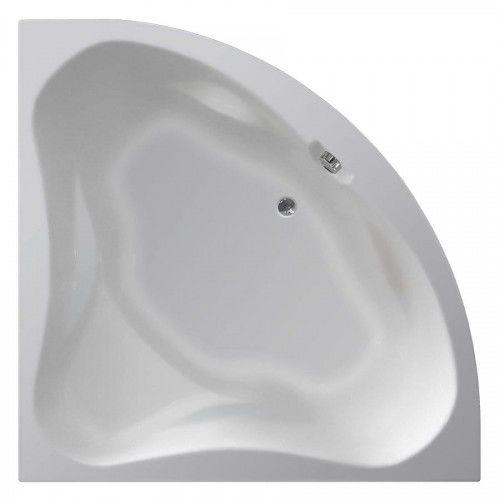 Wanna narożna DUNAJ II 150x150x48 cm, bez nóżek, kolor biały