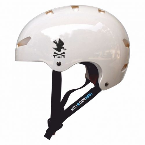 KRKpro kask NoPeace White/Black BMX MTB Skate Rolki
