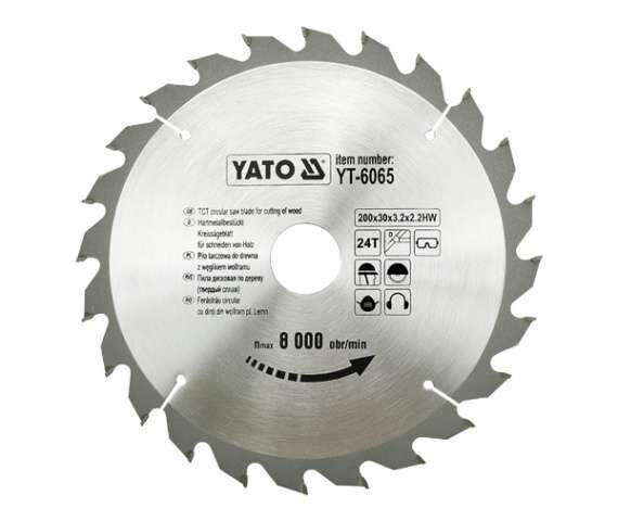 TARCZA WIDIOWA 200X24TX30 MM Yato YT-6065 - ZYSKAJ RABAT 30 ZŁ