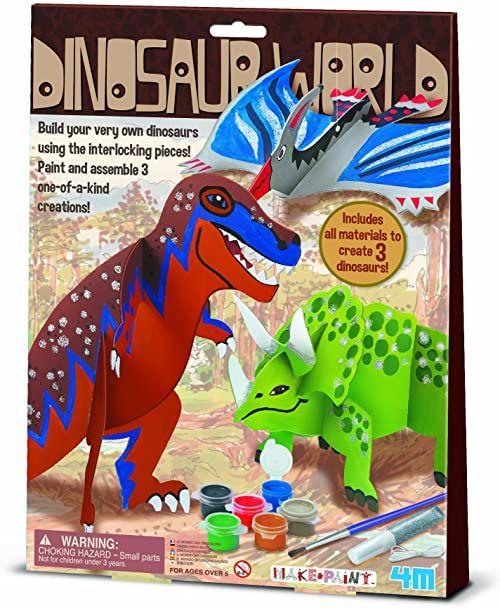 """4M """"Dinozaur World"""" Zrób własne rzemiosło (wielokolorowe)"""