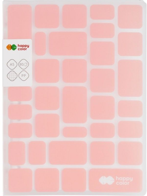 Kołobrulion A5 kratka 80k Happy Color TREND Różowy HA 4761 1521-TP80
