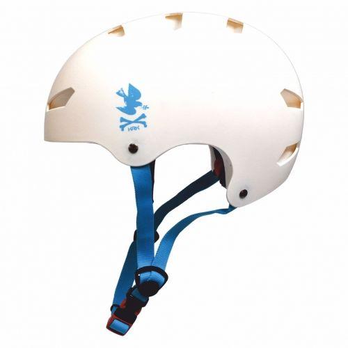 KRKpro kask NoPeace White/Blue BMX MTB Skate Rolki
