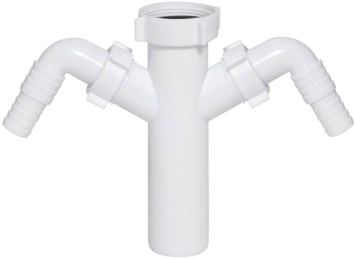 Króciec syfonu Ani-plast z wyjściami do pralki / zmywarki 40 mm