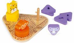 Janod - Jak używać śruby - Afryka - drewniana zabawka edukacyjna - od 18 miesięcy, J05325