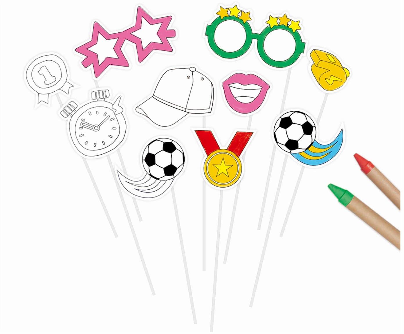 Foto rekwizyty do zdjęć Piłka Nożna do pokolorowania - 10 szt.