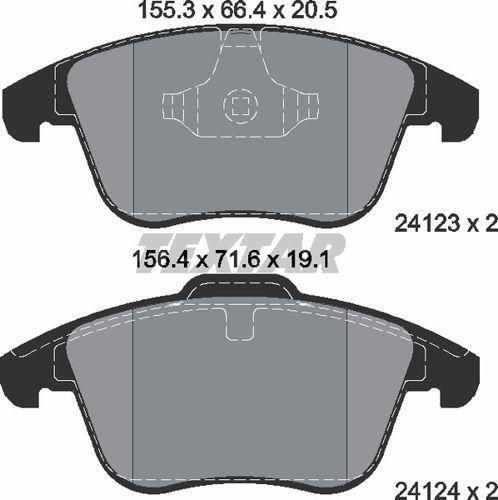 klocki hamulcowe Mondeo Mk4  S-Max  Galaxy - kpl. przód 248980 HART