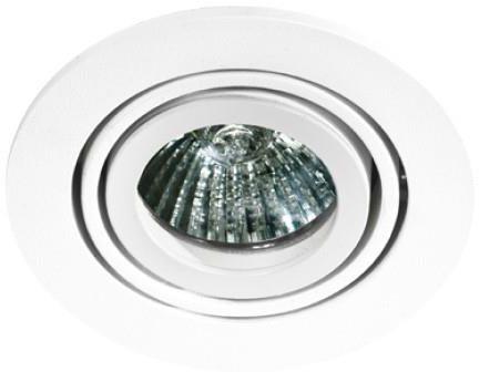 Oczko stropowe Carlo AZ0805 AZzardo okrągła oprawa w kolorze białym