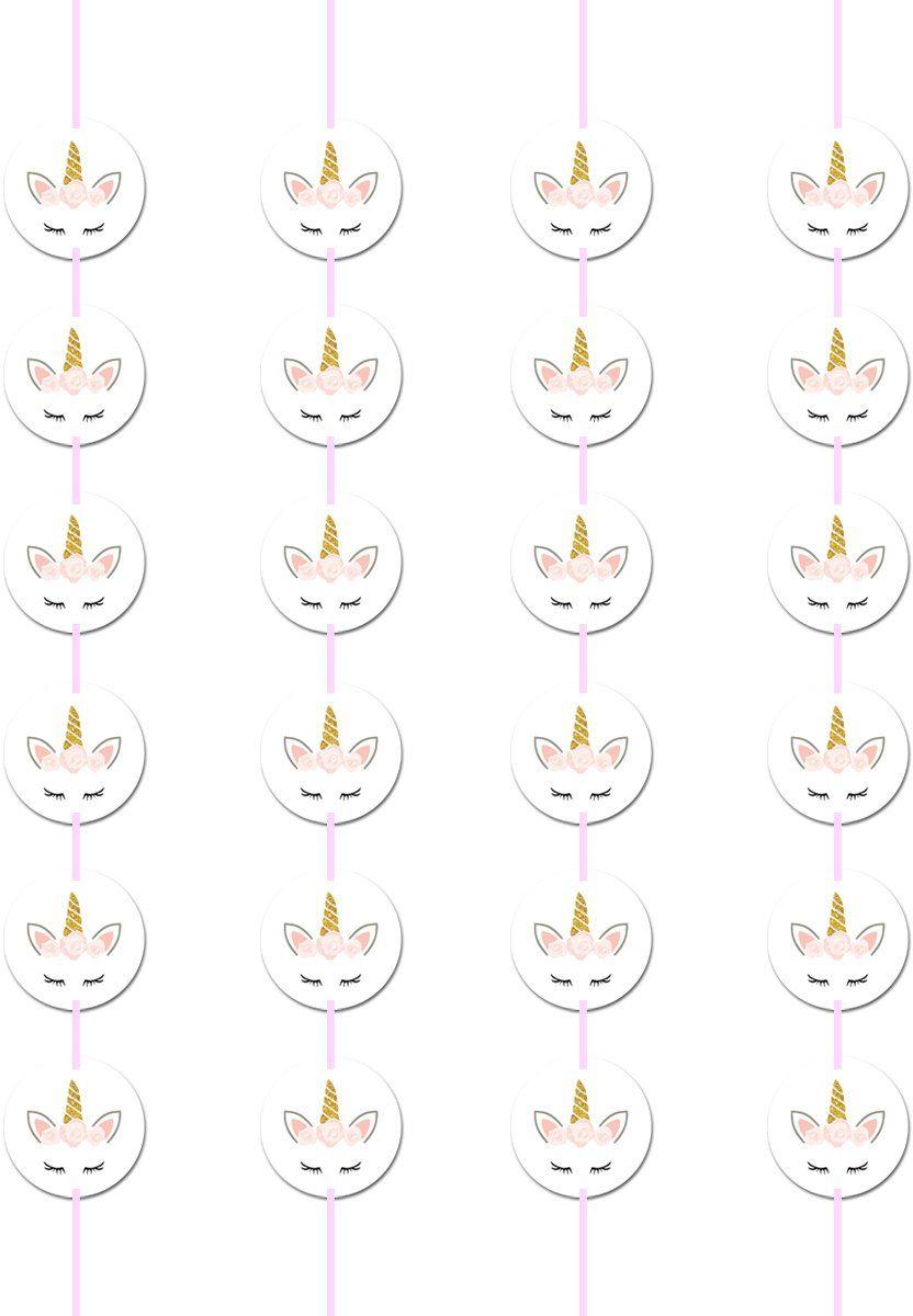 Dekoracja wisząca urodzinowa Jednorożec