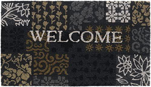 HMT Vintage 147301 wycieraczka 40 x 70 cm kokosowy, czarna, 40 x 70 cm