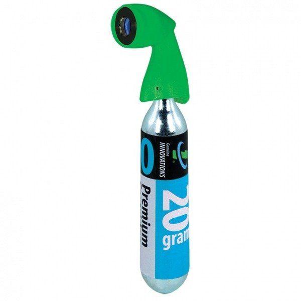 GI Pompka do roweru CO2 Microflate Nano Green + Nabój 20 g
