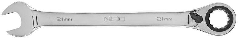 Klucz płasko-oczkowy z grzechotką i przełącznikiem 21mm 09-333