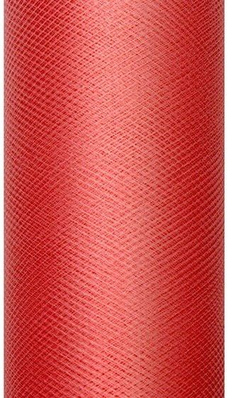 Tiul dekoracyjny czerwony 30cm rolka 9m TIU30-007 - CZERWONY 30CM