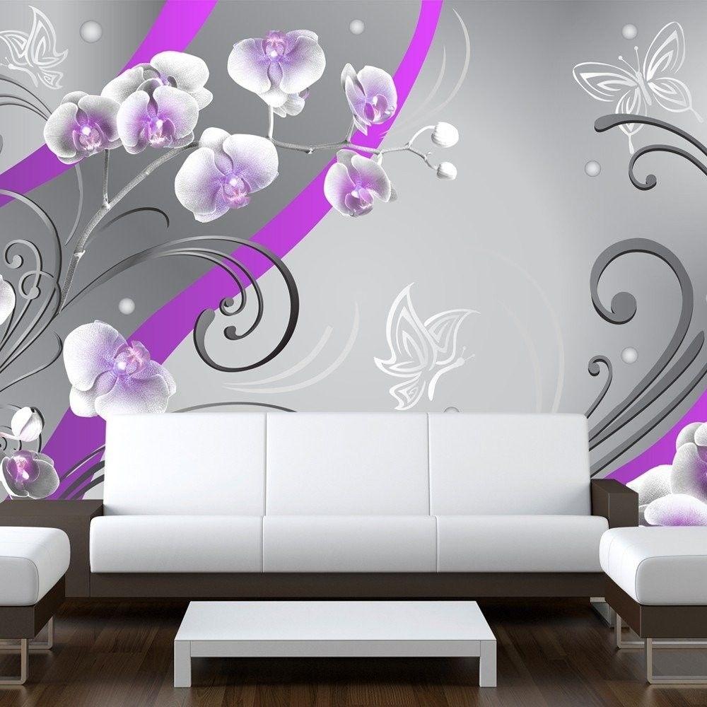 Fototapeta - purpurowe orchidee - wariacja