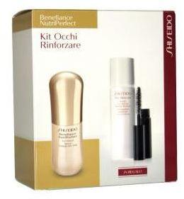Shiseido Benefiance NutriPerfect Kit Occhi Rinforzare Serum pod oczy 15ml + tusz do rzęs czarny 2ml + tonik do demakijażu - 30ml Do każdego zamówienia upominek gratis.
