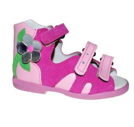 POSTĘP BS 222 DWP/1 sandały sandałki profilaktyczne z obcasem Thomasa dziewczęce - ZOSIA