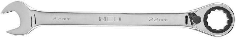 Klucz płasko-oczkowy z grzechotką i przełącznikiem 22mm 09-334