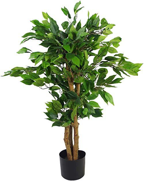Leaf Sztuczne drzewko/roślina, wiecznie zielone krzaczące, 90 cm