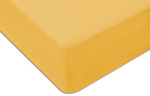 Prześcieradło Jersey Z Gumką 140x200 Żółte Darymex