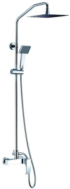 Blue Water Liwia zestaw kabinowo-prysznicowy natynkowy chrom LIW-ZKPN. 400C