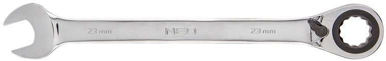 Klucz płasko-oczkowy z grzechotką i przełącznikiem 23mm 09-335