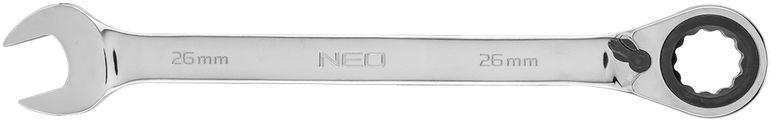 Klucz płasko-oczkowy z grzechotką i przełącznikiem 26mm 09-338