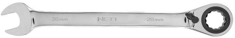 Klucz płasko-oczkowy z grzechotką i przełącznikiem 28mm 09-340