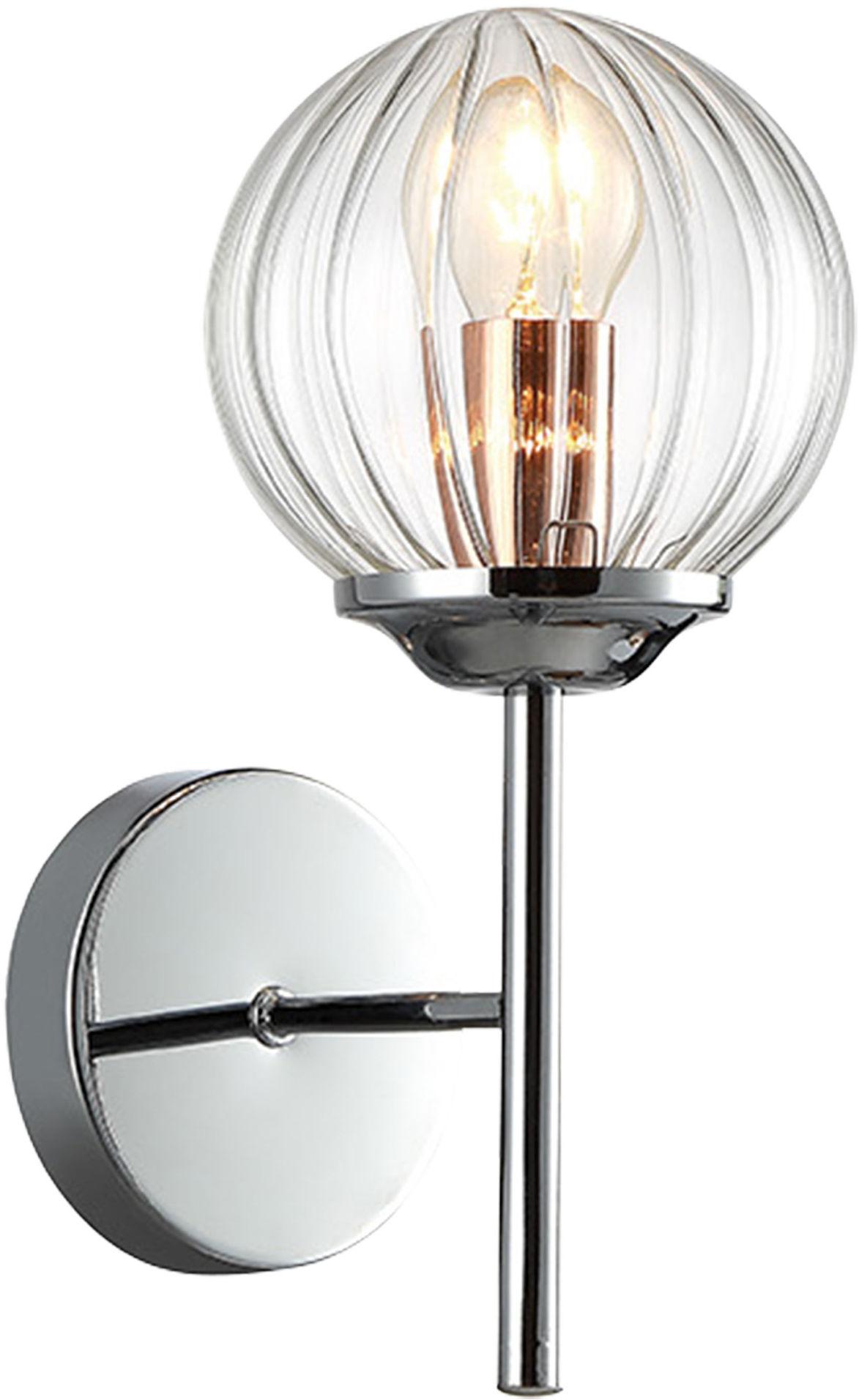 Candellux BEST 21-67234 kinkiet lampa ścienna chrom + miedź 1X40W E14