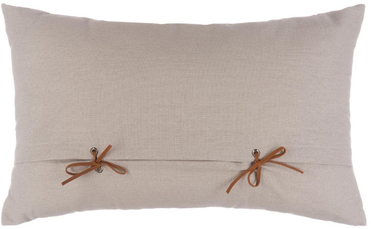 HomeMaison Poduszka z tasiemkami, około poliester, len, 50 x 30 cm
