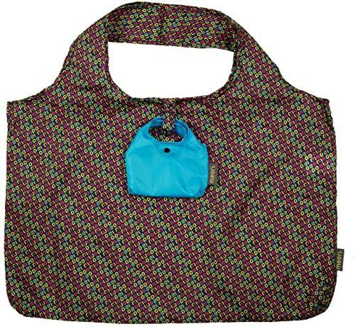 Składana torba Shopping meori nadruk Midnight Blue 60x40x5cm poliester ekologiczna torba na ramię transport zakupy