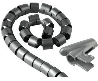 Hama Organizer kabli Easy Cover, śr. 30 mm, dł 1,5 m, srebrny