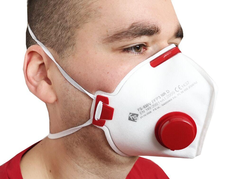 Półmaska filtrująca FS-930V FFP3 NR D