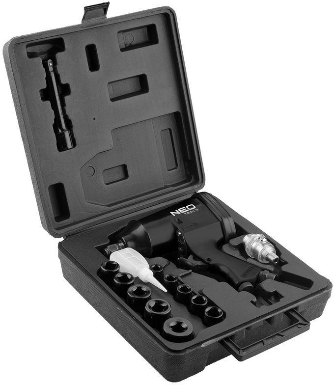 Klucz udarowy pneumatyczny 1/2 320Nm zestaw z nasadkami 14-502