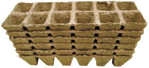 Doniczki torfowe  palety 4x5 komórek  72 szt.