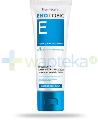 Pharmaceris E Emotopic specjalny krem natłuszczający na twarz, powieki i ciało 75 ml emolient