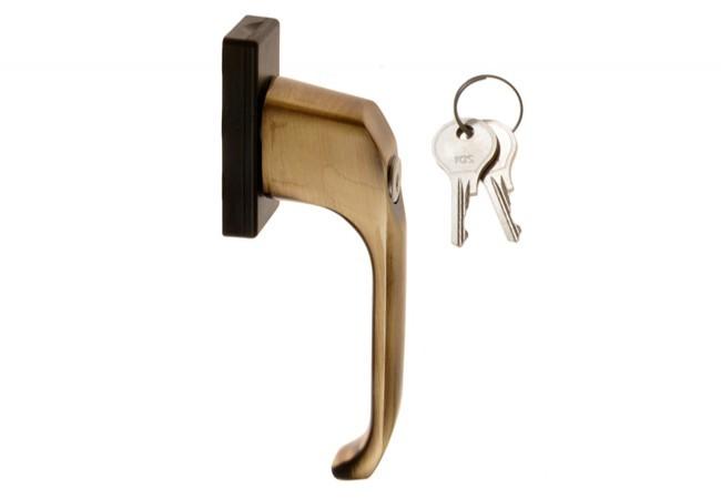 Klamka 13774 L-35 patyna /mosiężna z kluczykiem