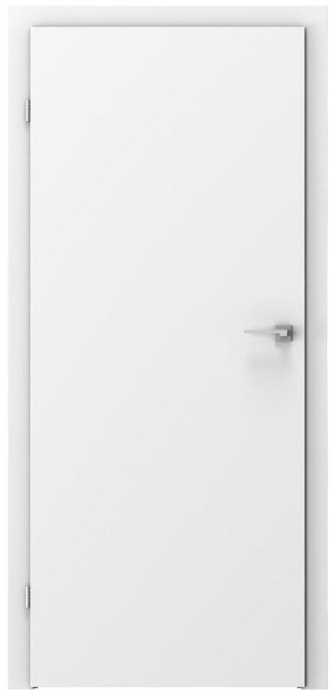 Skrzydło drzwiowe pełne Basic Białe 90 Lewe Voster