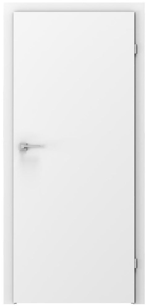 Skrzydło drzwiowe pełne Basic Białe 90 Prawe Voster