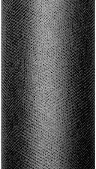 Tiul dekoracyjny czarny 30cm x 9m 1 rolka TIU30-010